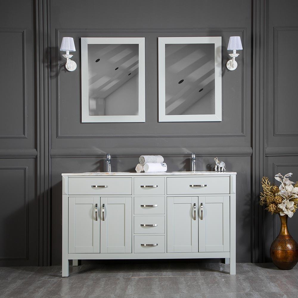 Fawna 56 Light Gray Bathroom Cabinet