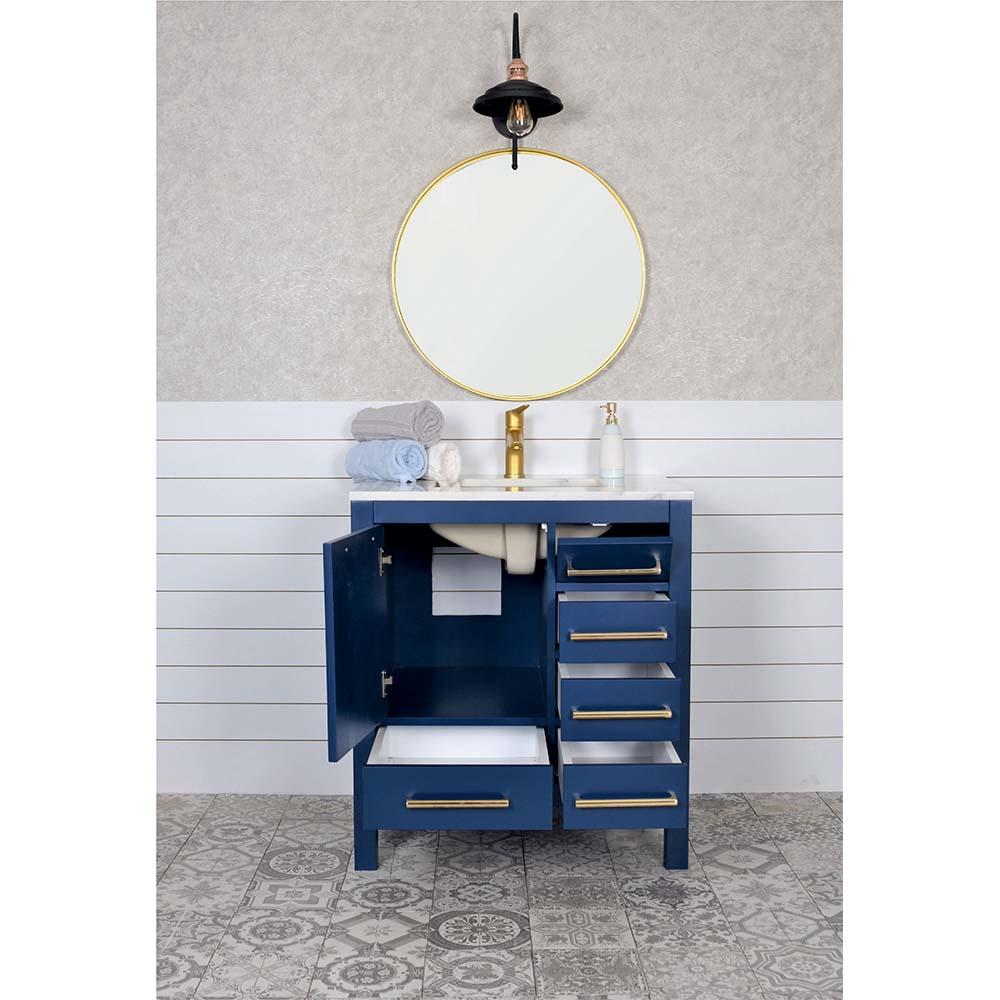 Ashley 30 Navy Blue Bathroom Vanity